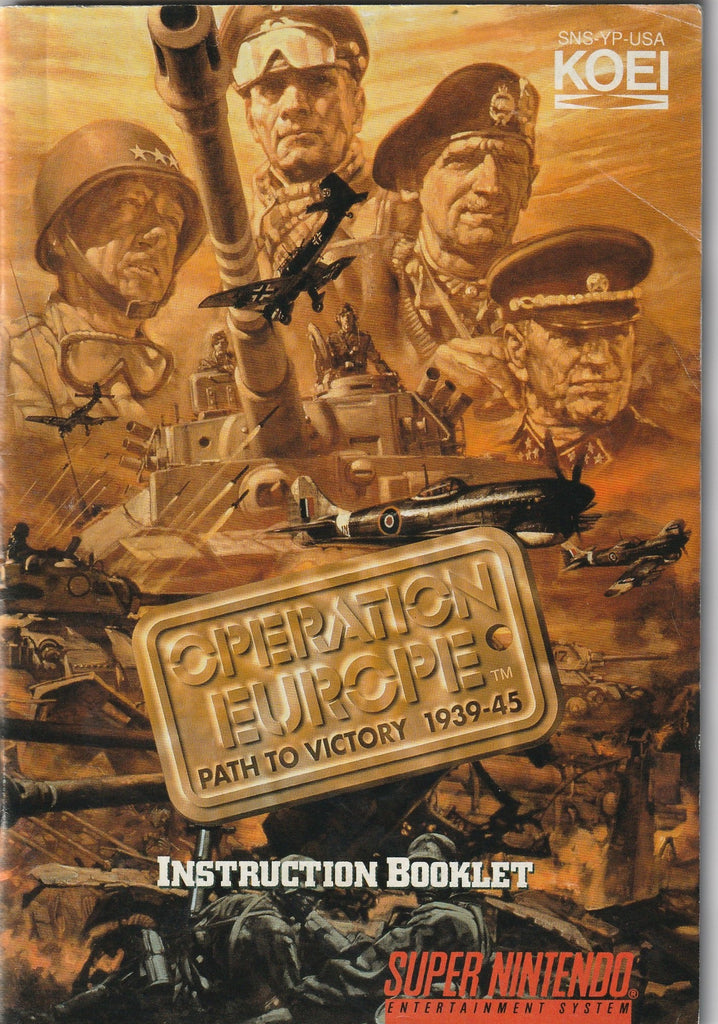 Operation Europe (SNES, Manual Only)