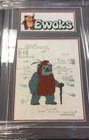 Ewoks Lumat Model Cel (Framed & Matted)