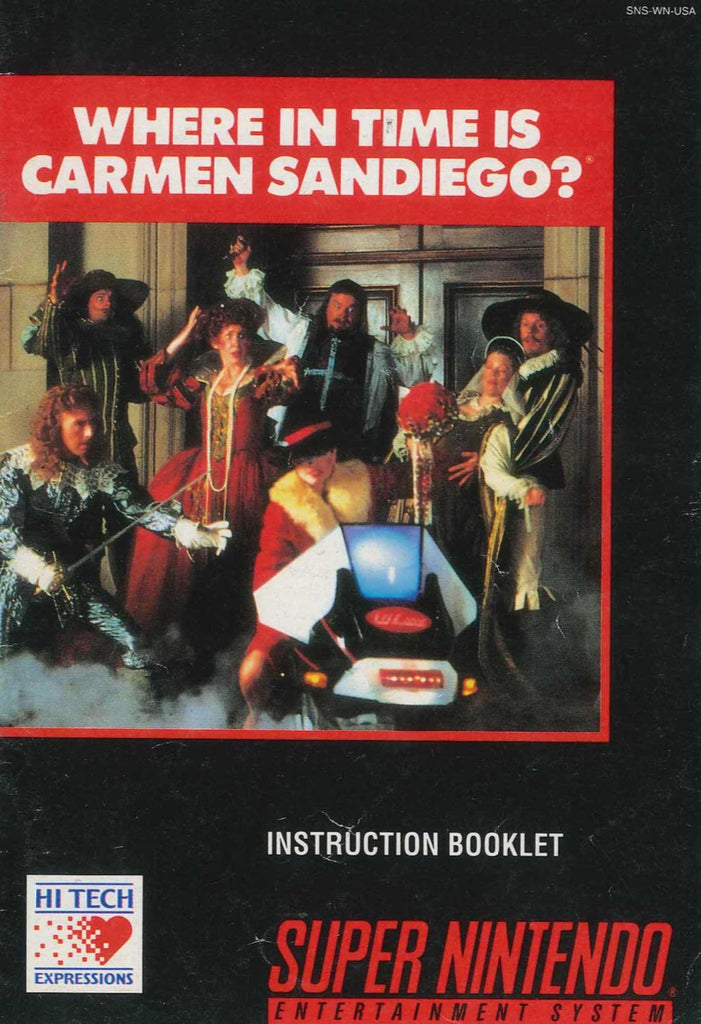 Where in Time is Carmen Santiago (Manual Only,SNES)