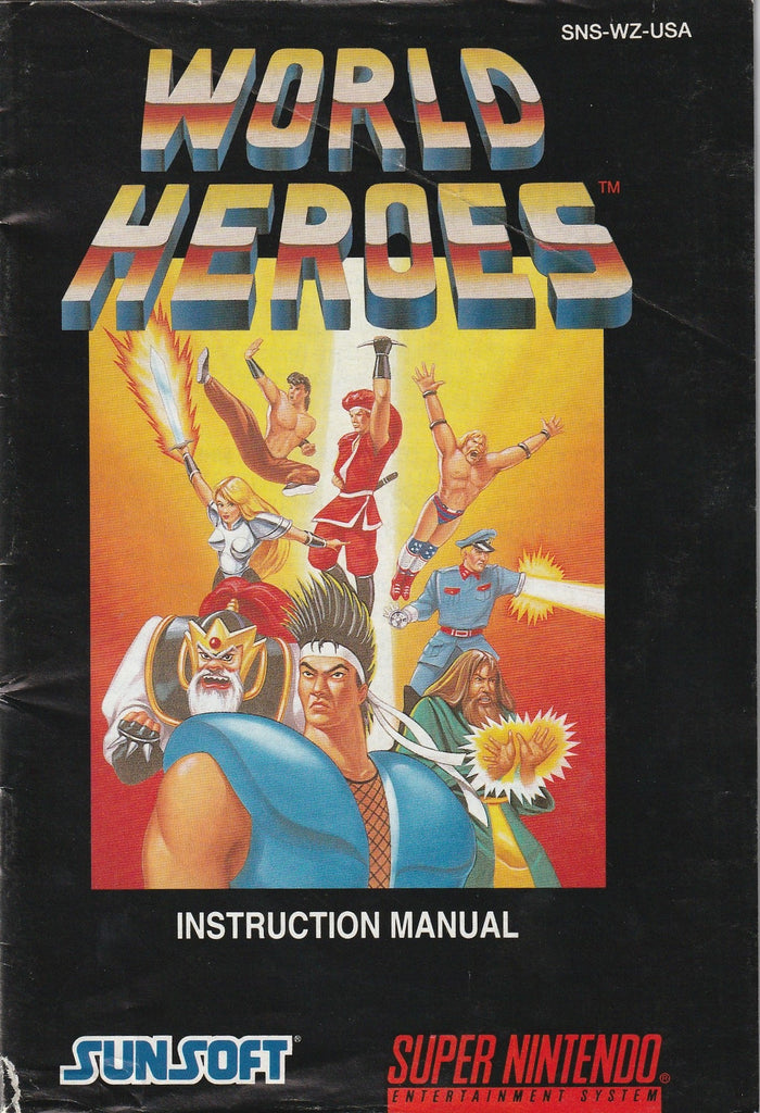 World Heroes (SNES, Manual Only)