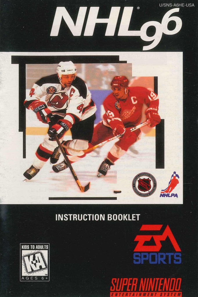 NHL 96 (Manual Only, SNES)