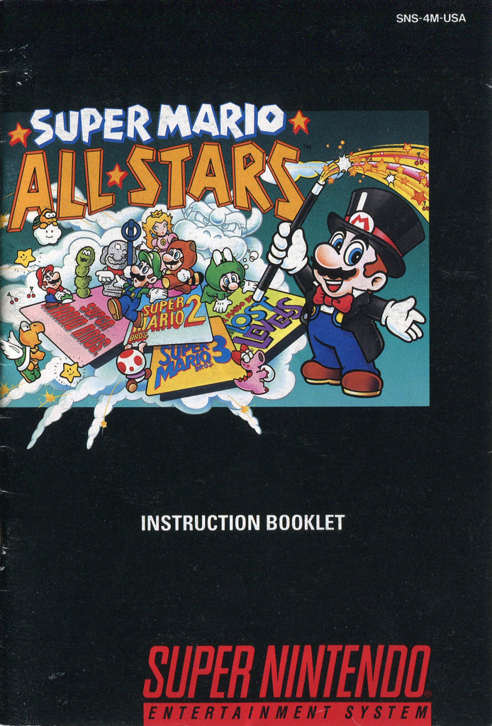 Super Mario All-Stars (Manual Only, SNES)