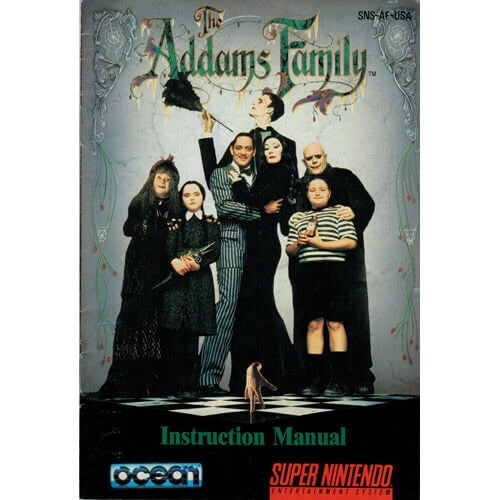 The Addams Family (Manual Only, SNES)