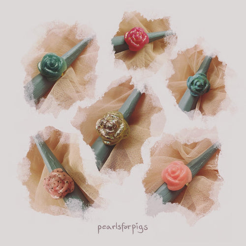 Chunky rose rings