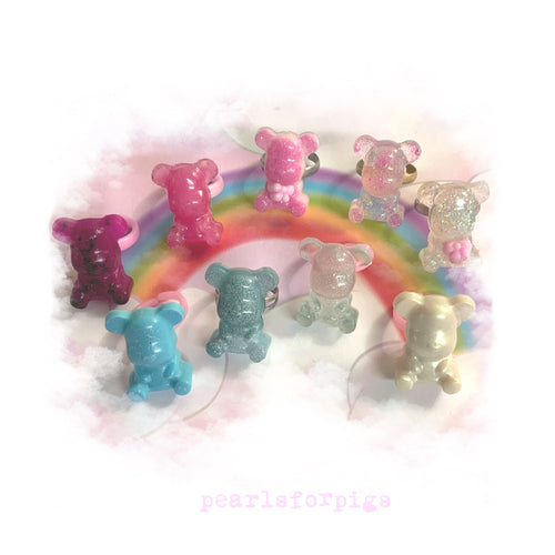Teddy bear rings