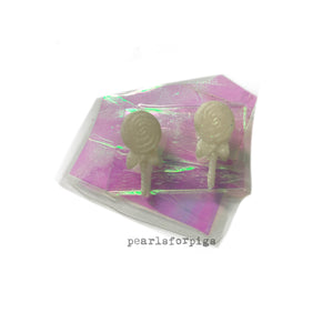 Tiny lollipop studs