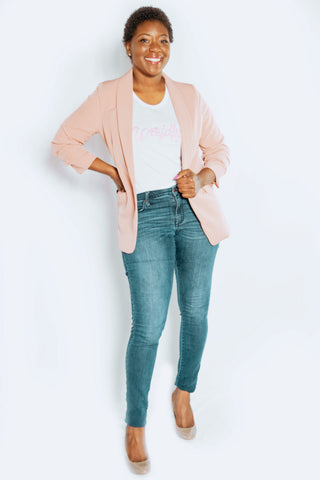 powerful black women blush blazer travel tee beautiful fashion stylish