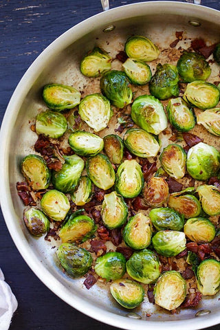 Lemon Prosciutto Brussels Sprouts