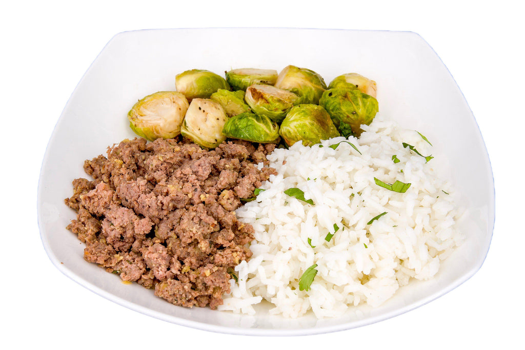 #7 Ground Beef, Jasmine Rice & Brussel Sprouts