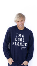 I'm a Cool Blonde Sweatshirt Navy
