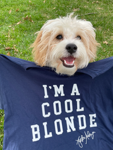 I'm a Cool Blonde Navy Tee Shirt