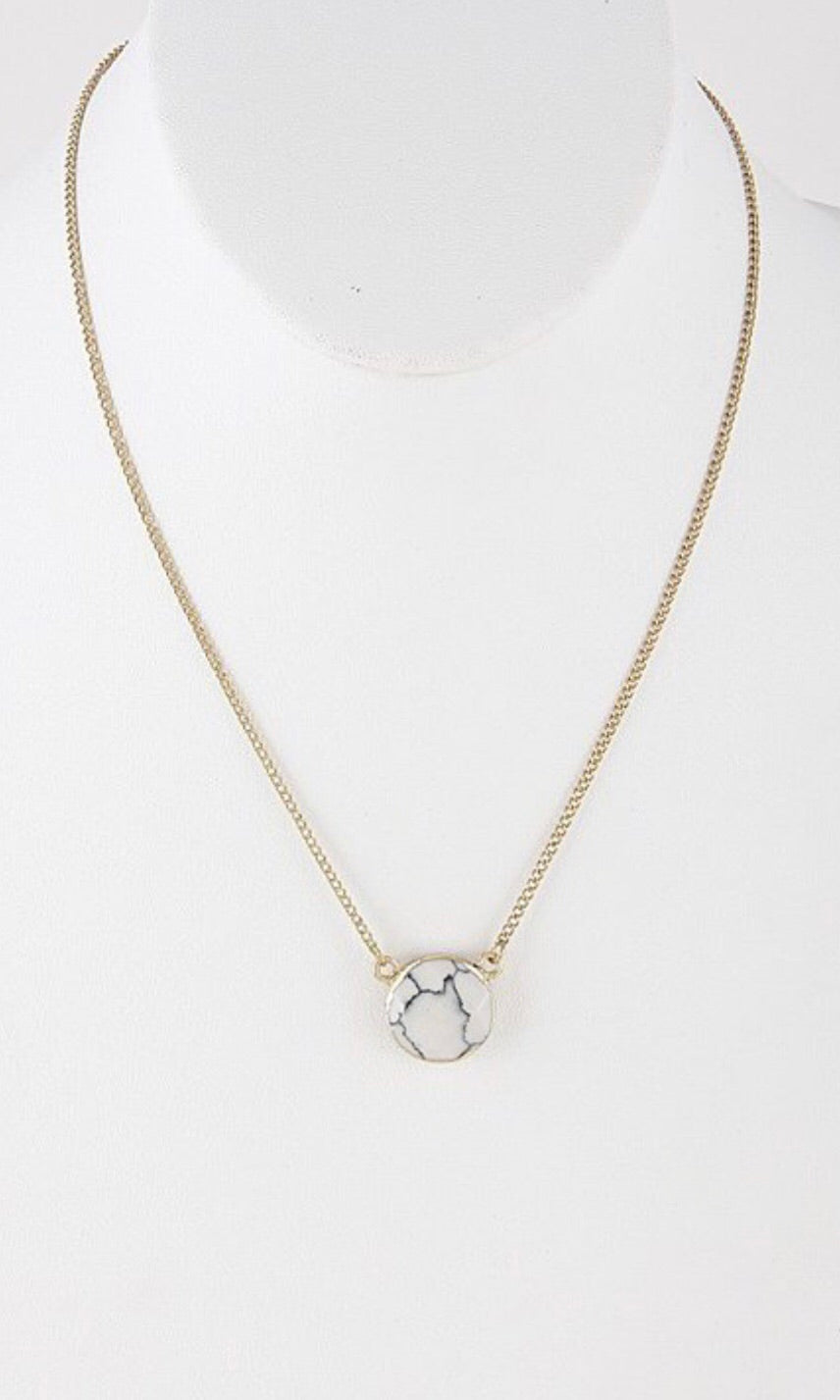 Faux Marble Necklace