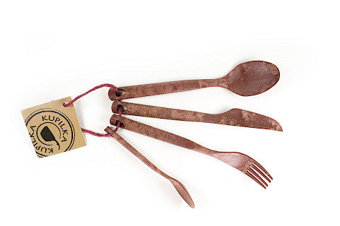 Kupilka Cutlery Set: Fork, Knife, Spoon and Teaspoon