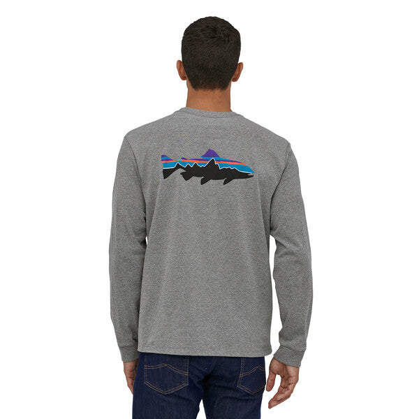Patagonia Men's Long-Sleeved Fitz Roy Trout Responsibili-Tee®