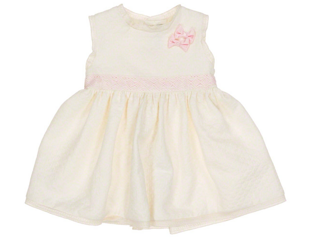 Cream Dress with Pink Bows & Matching Pants