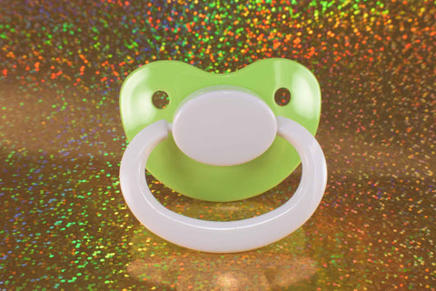 Froggy Green & White Adult Size Paci