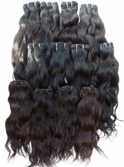 Naturally Wavy Indian Temple Hair, Virgin Human Hair