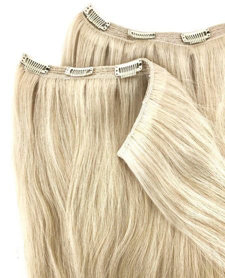 quad weft, clip in hair piece
