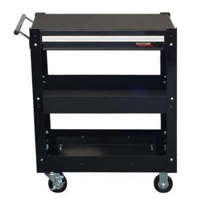 CraftLine Limited PC-T28-1X Utility Tool Cart Trolly w/ 3 Shelves and 1 DrawerCraftLine Limited PC-T28-1X Utility Tool Cart Trolly w/ 3 Shelves and 1 DrawerGarage Systematic
