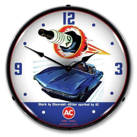Collectable Sign & Clock 1941 AC Spark Plug SharkCollectable Sign & Clock 1941 AC Spark Plug SharkGarage Systematic
