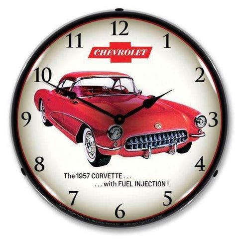 Collectable Sign & Clock 1957 Corvette Fuel InjectionCollectable Sign & Clock 1957 Corvette Fuel InjectionGarage Systematic