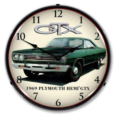 Collectable Sign & Clock 1969 Plymouth HEMI GTXCollectable Sign & Clock 1969 Plymouth HEMI GTXGarage Systematic