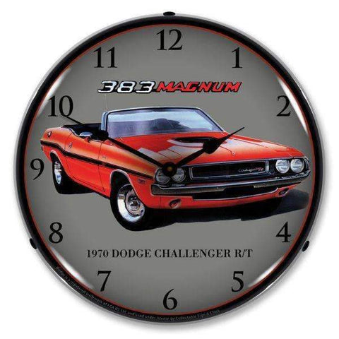 Collectable Sign & Clock 1970 Dodge Challenger RTCollectable Sign & Clock 1970 Dodge Challenger RTGarage Systematic
