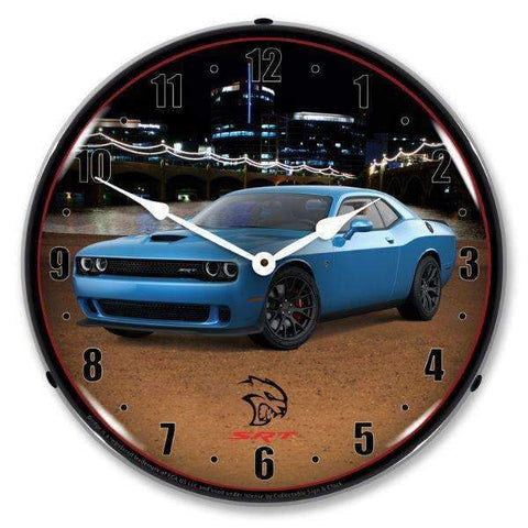 Collectable Sign & Clock Challenger SRT Hellcat B5 BlueCollectable Sign & Clock Challenger SRT Hellcat B5 BlueGarage Systematic