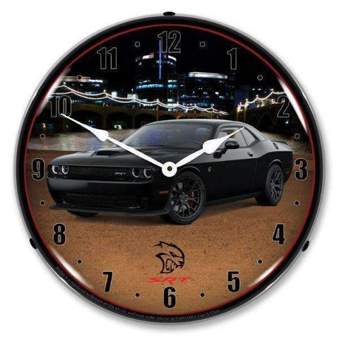 Collectable Sign & Clock Challenger SRT Hellcat Black Collectable Sign & Clock Challenger SRT Hellcat Black Garage Systematic
