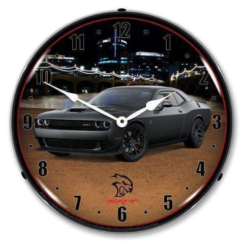 Collectable Sign & Clock Challenger SRT Hellcat GraniteCollectable Sign & Clock Challenger SRT Hellcat GraniteGarage Systematic