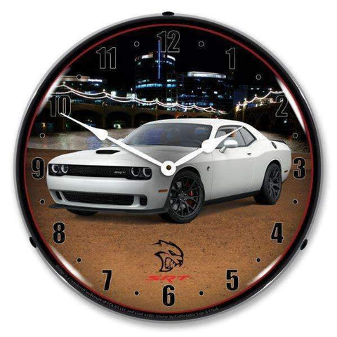 Collectable Sign & Clock Challenger SRT Hellcat Ivory Collectable Sign & Clock Challenger SRT Hellcat Ivory Garage Systematic