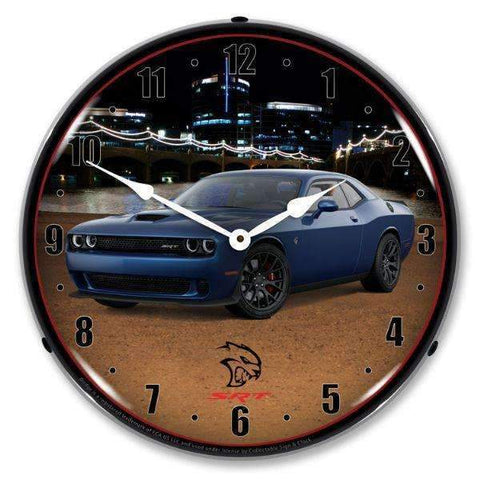 Collectable Sign & Clock Challenger SRT Hellcat Jazz BlueCollectable Sign & Clock Challenger SRT Hellcat Jazz BlueGarage Systematic