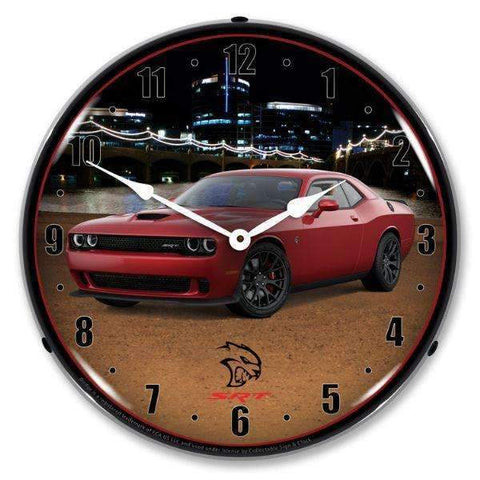 Collectable Sign & Clock Challenger SRT Hellcat RedlineCollectable Sign & Clock Challenger SRT Hellcat RedlineGarage Systematic