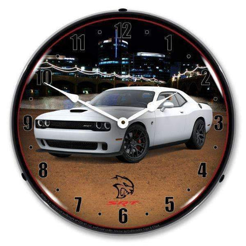 Collectable Sign & Clock Challenger SRT Hellcat WhiteCollectable Sign & Clock Challenger SRT Hellcat WhiteGarage Systematic