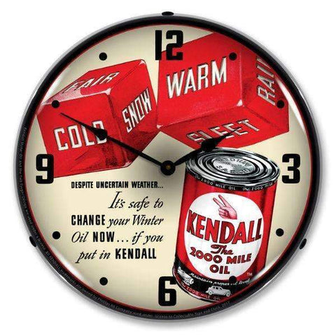 Collectable Sign & Clock Kendall Motor Oil 2Collectable Sign & Clock Kendall Motor Oil 2Garage Systematic