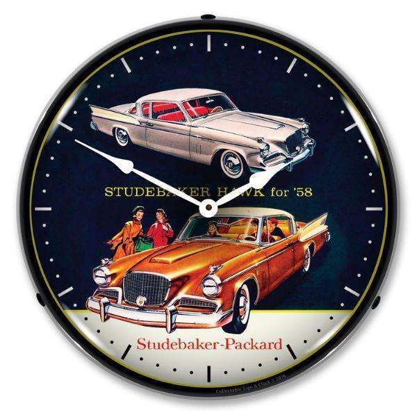 Collectable Sign & Clock 1958 Studebaker HawkCollectable Sign & Clock 1958 Studebaker HawkGarage Systematic