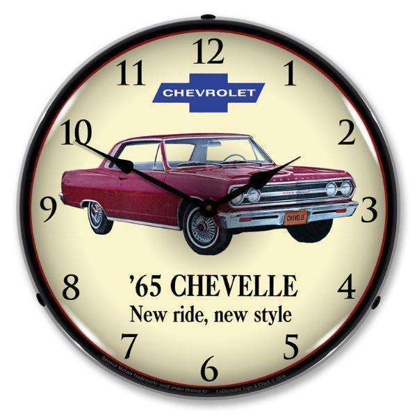 Collectable Sign & Clock 1965 ChevelleCollectable Sign & Clock 1965 ChevelleGarage Systematic