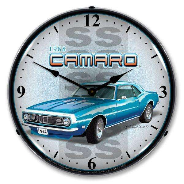 Collectable Sign & Clock 1968 SS CamaroCollectable Sign & Clock 1968 SS CamaroGarage Systematic
