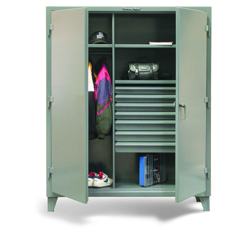 Strong Hold 36-W-243-7DB Industrial Uniform Cabinet with Seven DrawersStrong Hold 36-W-243-7DB Industrial Uniform Cabinet with Seven DrawersGarage Systematic