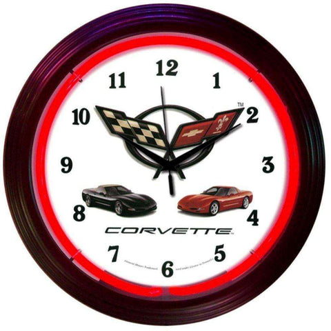 Neonetics Corvette C5 Neon ClockNeonetics Corvette C5 Neon ClockGarage Systematic