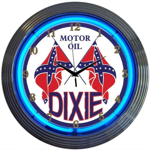 Neonetics Dixie Motor Oil Neon ClockNeonetics Dixie Motor Oil Neon ClockGarage Systematic