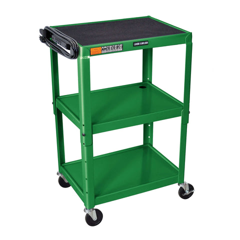 Luxor Adjustable Height Green Metal A/V CartLuxor Adjustable Height Green Metal A/V CartGarage Systematic