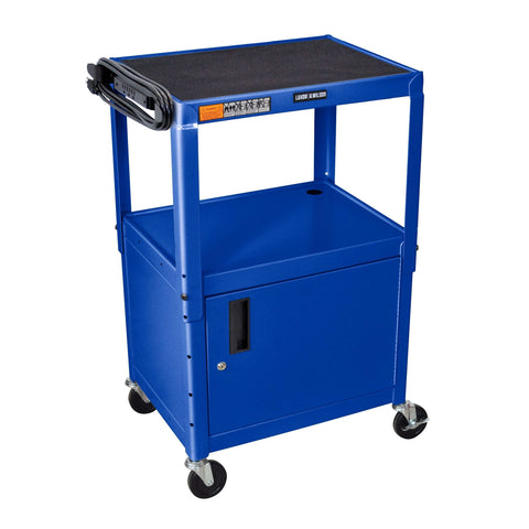 "Luxor Blue 42"" Adj Height Cart w/ CabinetLuxor Blue 42"" Adj Height Cart w/ CabinetGarage Systematic"