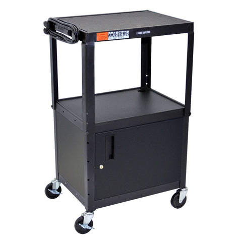 "Luxor Black 42"" Adj Height Cart w/ CabinetLuxor Black 42"" Adj Height Cart w/ CabinetGarage Systematic"