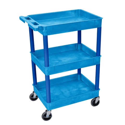 Luxor Blue 3 Shelf Tub CartLuxor Blue 3 Shelf Tub CartGarage Systematic