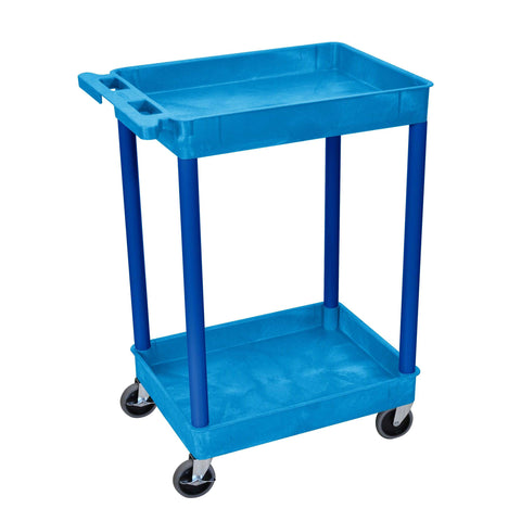 Luxor Blue 2 Shelf Tub CartLuxor Blue 2 Shelf Tub CartGarage Systematic