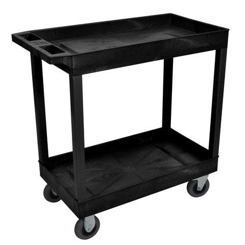 Luxor Black 18x32 2 Tub Cart W/ SP5 CastersLuxor Black 18x32 2 Tub Cart W/ SP5 CastersGarage Systematic