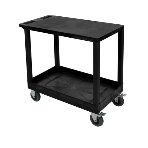 Luxor Black 18x32 2 Flat/Tub Cart W/ SP5 CastersLuxor Black 18x32 2 Flat/Tub Cart W/ SP5 CastersGarage Systematic
