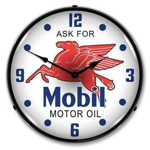 Collectable Sign & Clock Mobil OilCollectable Sign & Clock Mobil OilGarage Systematic