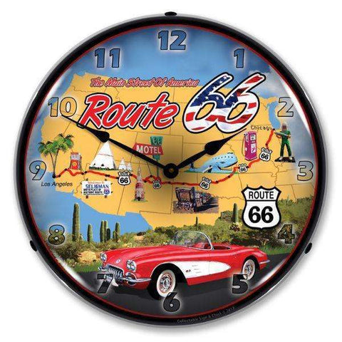 Collectable Sign & Clock Route 66 USACollectable Sign & Clock Route 66 USAGarage Systematic